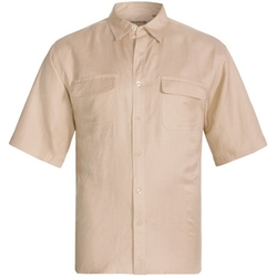 Visitor  - Natural Blue Linen Blend Shirt