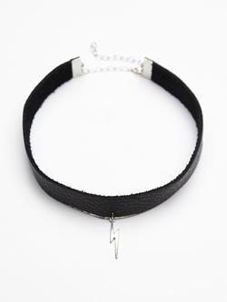 Free People - Leather Icon Choker Necklace