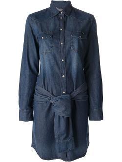 Diesel  - Sleeve-Tie Denim Dress