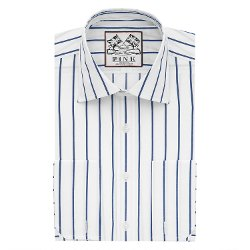 Alford  - Stripe Classic Fit Double Cuff Shirt