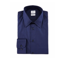 Armani Collezioni - Solid Long-Sleeve Dress Shirt