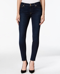 7 For All Mankind  - Skinny Dark Indigo Wash Jeans