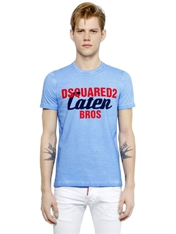 Dsquared2 - Logo Printed Faded Cotton T-Shirt