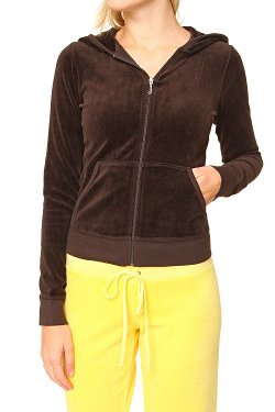 Juicy Couture - Zip Through Hooded Sweatshirt