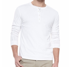 Vince - Long-Sleeve Jersey Henley Shirt