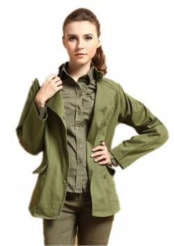 Aini Savoie  - Women Jacket Army Green-aini Savoie