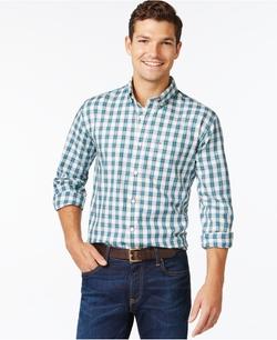 Tommy Hilfiger - Mini-Plaid Long-Sleeve Shirt