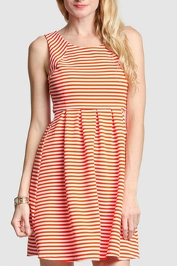 Ya Los Angeles - Coral Striped Dress