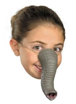 Disguise Costumes - Elephant Nose with Elastic Strap