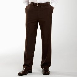 Haggar Eclo - Classic-Fit Flat-Front Stria Dress Pants