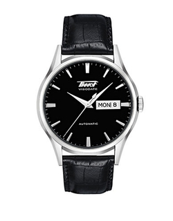 Tissot - Visodate Automatic Leather Strap Watch