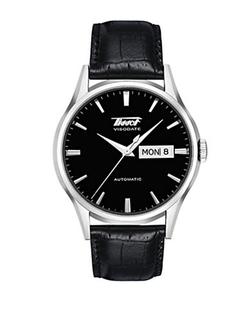 Tissot - Visodate Automatic Leather Strap Watch
