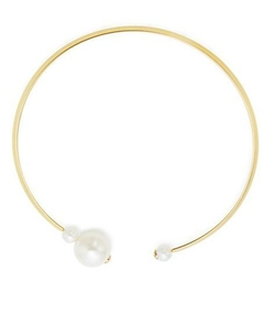 Kenneth Jay Lane  - Faux Pearl Capped Collar Necklace
