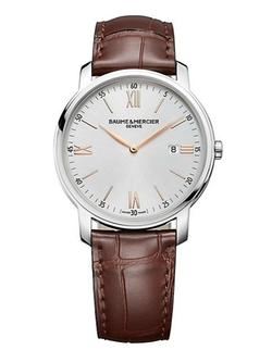 Baume & Mercier - Classima Stainless Steel & Alligator Strap Watch