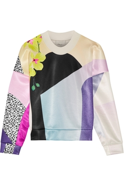 3.1 Phillip Lim - Printed Scuba-Jersey Sweatshirt