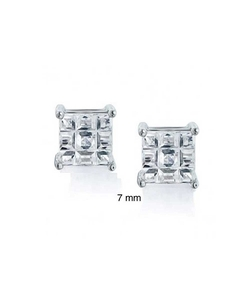 Bling Jewelry - Mens Square Stud Earrings