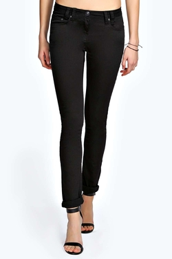 Boohoo Blue - Evie Low Rise Stetch Skinny Jeans