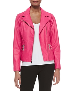 Neiman Marcus - Leather Moto Jacket