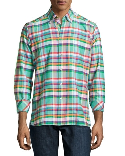 Ike Behar  - Crawford Plaid Long-Sleeve Shirt