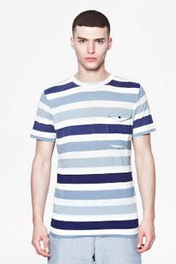 French connection - BLEACHED STRIPE T-SHIRT