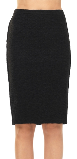 Leon Max - Textured Stretch Boucle Pencil Skirt