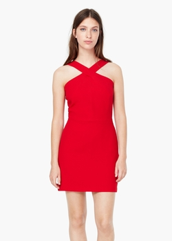 Mango - Wrap Neckline Dress