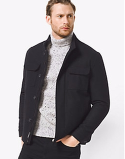 Michael Kors - Wool-Melton Utility Jacket