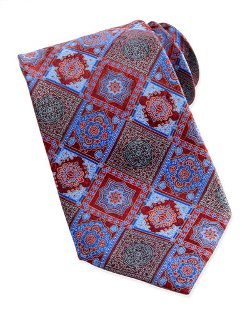 Ermenegildo Zegna - Diamond-Tile-Print Silk Tie