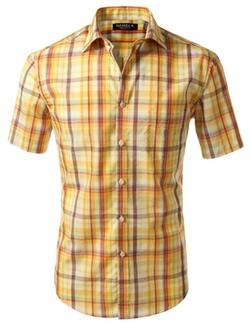 7 Encounter  - Plaid Oxford Short Sleeve Shirt
