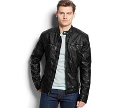 Michael Michael Kors  - Faux Leather Moto Jacket