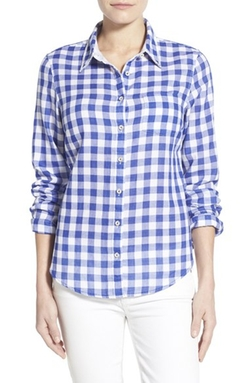Tommy Bahama  - Grand Gingham Cotton Boyfriend Shirt