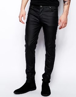 ASOS  - Skinny Leather Jeans