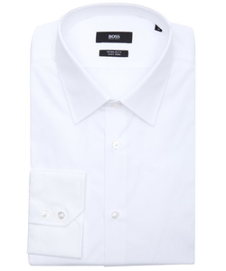 Boss - Cotton Point Collar Dress Shirt