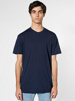 American Apparel - Poly-Cotton Crew Neck T-Shirt