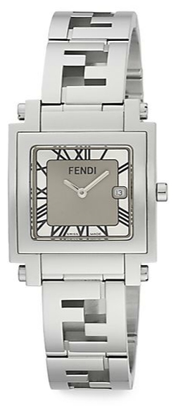 Fendi - Quadro Stainless Steel Square Watch