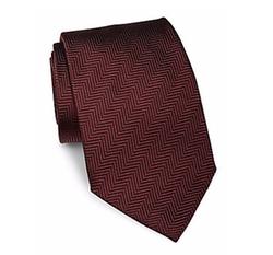 Giorgio Armani - Herringbone Patterned Silk Tie