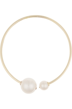 Kenneth Jay Lane - Gold-Plated Faux Pearl And Crystal Choker Necklace