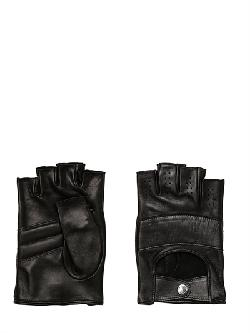 MARIO PORTOLANO  - PERFORATED LEATHER FINGERLESS GLOVES