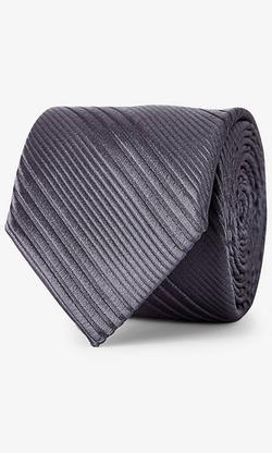 Express - Textured Diagonal Stripe Silk Tie