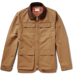 Gant Rugger - Corduroy-Trimmed Cotton-Canvas Field Jacket