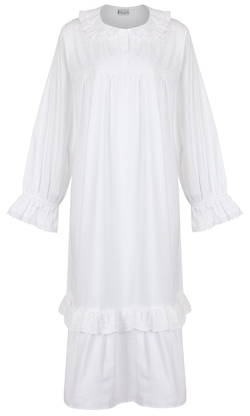 The 1 For U - Vintage Design Long Sleeve Nightgown
