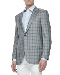 Ermenegildo Zegna - Two-Button Jacket Gray/Black Plaid