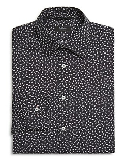 Paul Smith  - Ant Print Slim Fit Button Down Shirt
