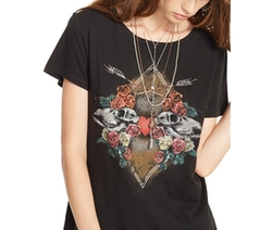 Denim & Supply Ralph Lauren  - Draped Cotton Graphic T-Shirt