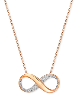 Swarovski  - Crystal Pavé Infinity Pendant Necklace