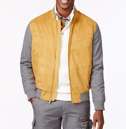Sean John - Sueded Bomber Jacket