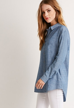 Forever21 - Chambray Pocket Shirt