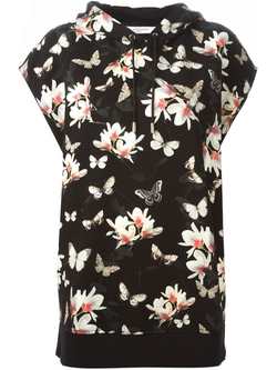 Givenchy   - Floral Print Hooded Top