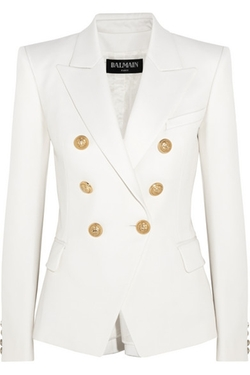 Balmain - Double-Breasted Wool-Twill Blazer