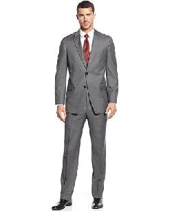 Tommy Hilfiger  - Grey Sharkskin Suit